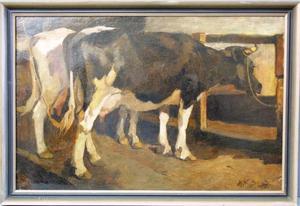 Koeien in een stal