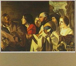 Diogenes zoekt een mens op de markt