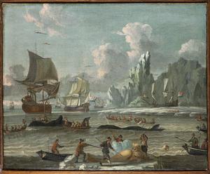 Walvisjagers in noordelijke wateren