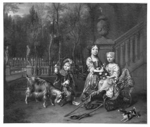 Portret van Paulus (1676-1757), Jacoba en Lucretia Teding van Berkhout