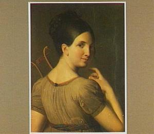 Portret van een jong meisje met een lier