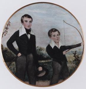Portret van Jan Hendrik Quast (1773-1825) en Johan Anton Quast (1803-1859)