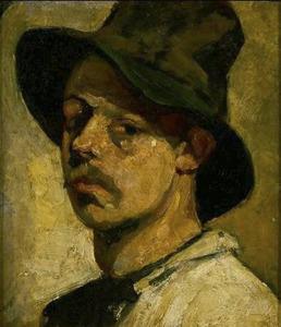 Zelfportret met hoed