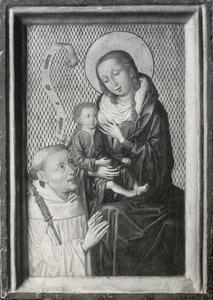 Maria met kind en de H. Bernardus