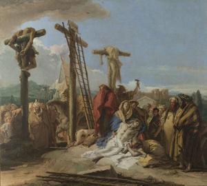 De bewening van Christus onder het kruis