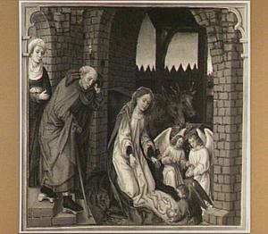 De geboorte van Christus (detail van het linkerluik)
