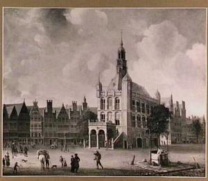 De markt met de Waag te Deventer