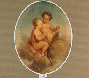 Allegorie op de schilderkunst: schilderende putti
