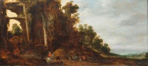 Landschap met Romeinse ruïne
