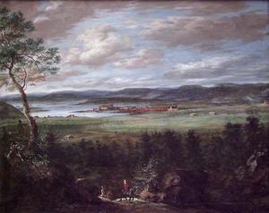 Panoramalandschap met Christiana (Oslo), gezien vanuit Skøyen