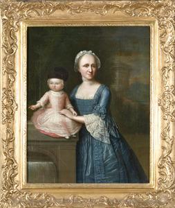 Portret van Jacoba Magdalena Ockersse (1731-1772) en haar zoontje Nicolaas Steengracht (1754-1840)