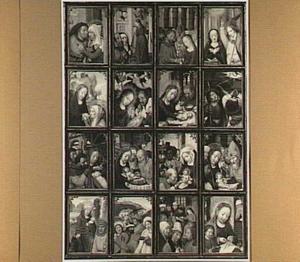 Zestien voorstellingen uit het leven van Maria en de jeugd van Christus
