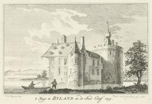 Kasteel Byland (ook Huis Halt) vanuit het noordwesten
