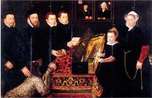 Portret van Hendrik van den Broucke en zijn familie