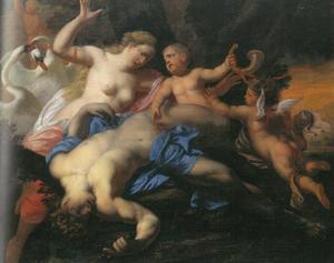 Venus beweent de dood van Adonis