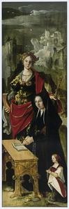 De H. Catharina met stichtster en haar dochter