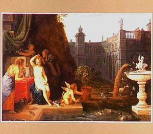 Batseba ontvangt koning David's brief (2 Samuel 11: 1-27)