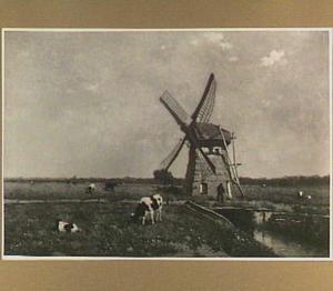 Landschap met molen bij Schiedam