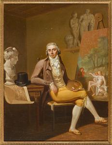 Portret van een schilder in zijn atelier (zelfportret?)