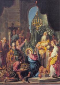 De pdracht in de tempel, Simeon zingt zijn ode 'Nunc Dimittis' (Lucas 2:22-40)