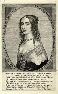 Portret van Elizabeth prinses van de Palts (1618-1680)