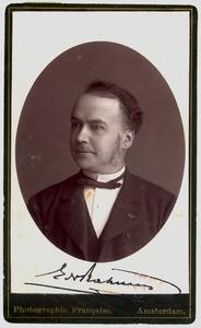 Portret van Eduard Nicolaas Rahusen (1830-1913)