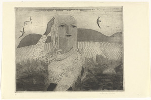 Portret van Margreet met vier zwaluwen
