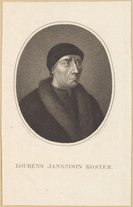 Portret van Laurens Jansz. Coster (1405-1484)