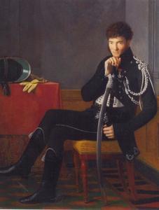 Portret van een jonge officier van de Garde d'Honneur van keizer Napoleon