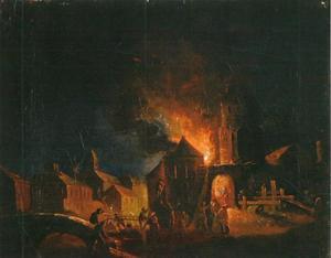 Nachtelijke vuurzee