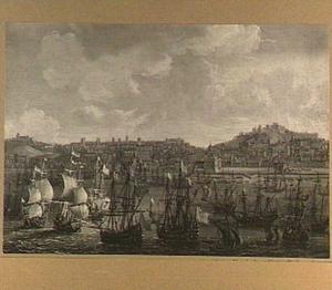 Schepen voor de haven van Lissabon