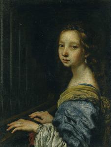 Portret van een onbekend meisje als de H. Cecilia