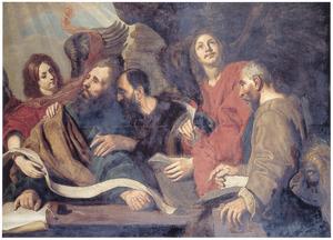 De vier evangelisten met hun attributen
