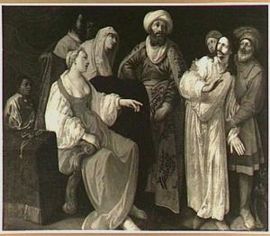 Jozef beschuldigd door Potifars vrouw (Genesis 39:19-20)