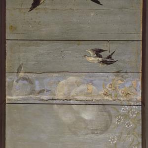 Zwaluw en bloemen