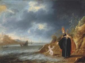 Augustinus en het kind aan de oever van de zee