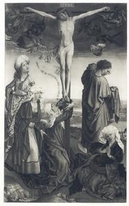 Kruisiging met treurende Madonna, H. Johannes de evangelist en de drie Maria's