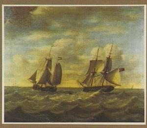 Kofschip ontmoet een Engelse brik