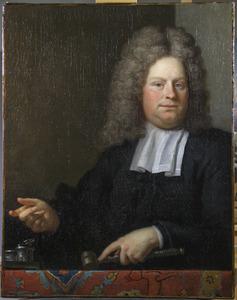 Portret van een man, waarschijnlijk een van de overlieden van het Wijnkopersgilde, Amsterdam, 1712