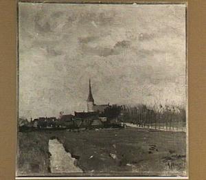 Landschap met dorp