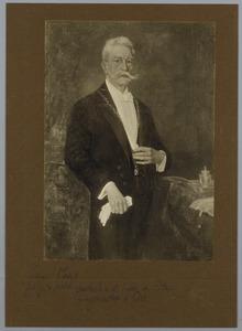 Portret van de heer van Elzen, burgemeester van Oss