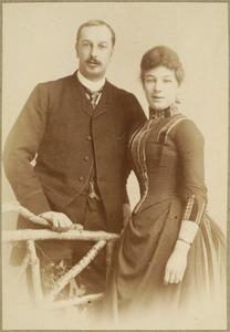 Portret van Marius Adrianus Gabriel van der Leeuw (1856-1923) en Madelaine van Dam (1868-1929)