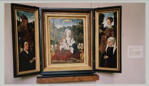 Dubbelportret van Augustijn van Teylingen (1475-1533)  en Josina van Egmond van de Nijenburg (1484-1554)