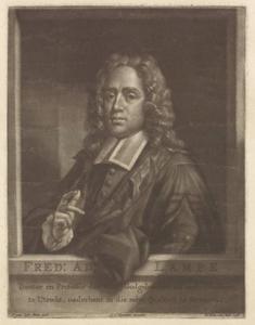 Portret van Friedrich Adolphe Lampe (1683-1729)
