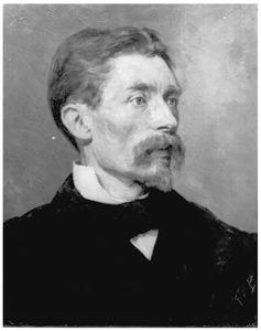 Portret van de heer Van Denderen, onderwijzer te Groningen