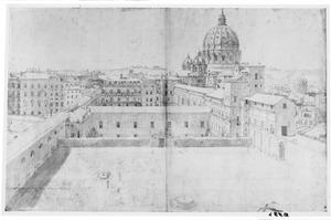 De grote cortile van het Vaticaan