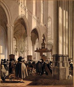 Interieur van de Nieuwe Kerk in Amsterdam