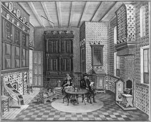 Echtpaar in Hindelooper interieur