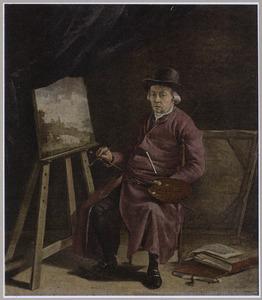 Portret van een kunstenaar in zijn atelier, mogelijk Franciscus Andreas Milatz (1764-1808)