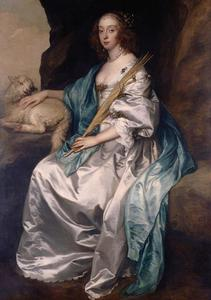 Portret van Mary Stewart, Duchess of Richmond en Duchess of Lennox (1622–1685), voorheen Lady Mary Villiers, als de H. Agnes